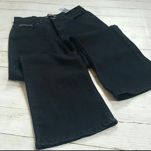 Levi's perfectly slimming boot cut black jean sz12